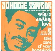JOHNNIE TAYLOR - WHO'S MAKING LOVE - TAKE CARE - SOLO COPERTINA - ONLY COVER