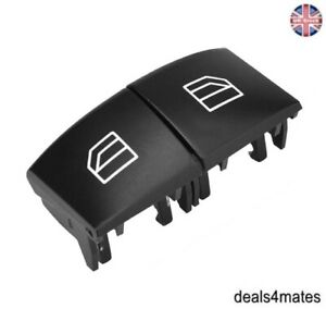 For Mercedes W164 X164 ML GL R Driver Window Switch 2X Repair Button Caps Covers