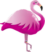 """LARGE FOIL SUPERSHAPE BALLOON PINK FLAMINGO 46"""" BIRTHDAY PARTY SUPPLIES"""