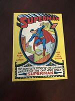 Superman Comics # 1 1939 Over-sized Golden Age Replica  ☆☆☆☆