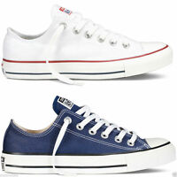 Converse Chuck Taylor All Star Lo Tops Unisex Canvas Trainers Navy White