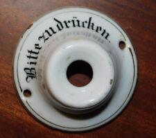 1920 bitte zu drücken ANCIEN PLAQUE BOUTON de sonnette en PORCELAINE door plate