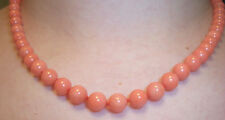 8mm GENUINE CORAL 18 Knotted NECKLACE STRAND Beautiful Natural Beads AAA