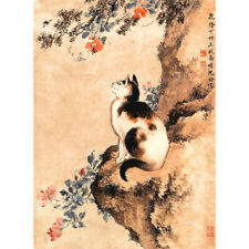 Wooden Jigsaw Puzzles 500 PCS Cat Shen Quan Chinese Painting Masterpieces Decor