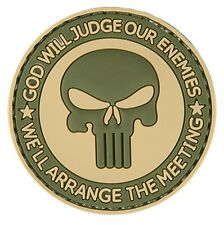 "AC-130S: Lancer Tactical ""GOD WILL JUDGE OUR ENEMIES"" PVC PATCH (TAN/OD)"