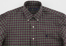 Men's RALPH LAUREN Red Green Black Plaid Shirt Small S NWT NEW Nice!