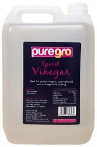 Puregro White Spirit Vinegar, 5 Litres