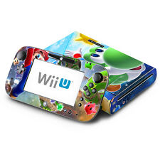 Skin Decal Cover for Nintendo Wii U Console & GamePad - Super Mario Galaxy Yoshi