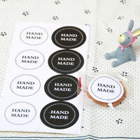"Circle ""Handmade"" Sticker Seal Label- Gift Box Soap Craft Cookie Christmas"