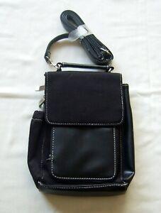 Totes black shoulder/cross body organiser handbag