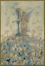 1892 Félicien Rops L'amour à travers les âges La Femme souveraine Héliogravure