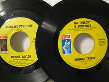 Johnnie Taylor 45rpm (2 Lot) Doing My Own Thing & Love Bones/Mr Nobody..Blues EX