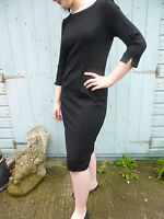 BNWT Pure Collection jet black  ponte fitted wiggle dress 8 10 12 14 16 18
