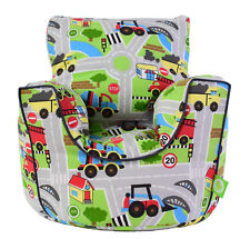 Cotton Transport Road Map Bean Bag Arm Chair with Beans Child/Teen size BeanLazy