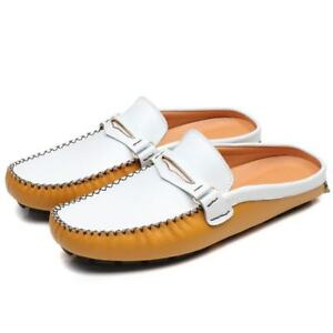 Mens Stitching Slips On Slingbacks Fashion Comfort Casual Moccasin Gommino Shoes