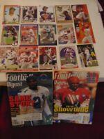 Deion Sanders January 1995 Football Digest,Deion Sanders 17 Count Lot 1990-1999