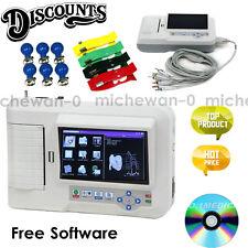 CE Touch AUTO ECG Machine 6 Channel EKG System Electrocardiograph+USB+Printer+SW