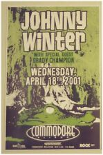 JOHNNY WINTER CONCERT POSTER 2001