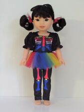 """Skeleton Costume Outfit Fits Wellie Wishers 14.5"""" American Girl Clothes"""