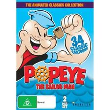 POPEYE THE SAILOR MAN 2 DISC SET THE ANIMATED CLASSICS COLLECTION ( NEW ) DVD