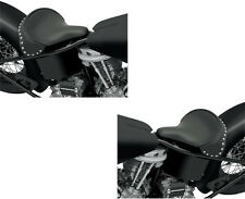SELLA SINGOLA GRANDE A MOLLE by PE (LEATHER)BLACK)STUD) FOR HARLEY DAVIDSON