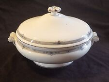 Wedgwood England AMHERST PLATINUM Covered Vegetable Serving Bowl
