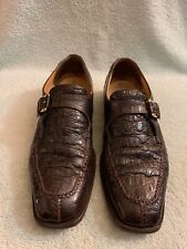 Mauri Crocodile Single Monkstrip Men Shoes 2602 701 Size 10.5 M