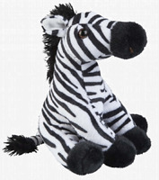 RAVENSDEN PLUSH ZEBRA SITTING 19CM - FR002Z TEDDY SOFT CUDDLY SNUGGLE CUTE TOY