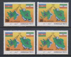 Aserbaidschan - 1994, Zusatzgebühr, Telekommunikation Set - MNH - Sg 133/6