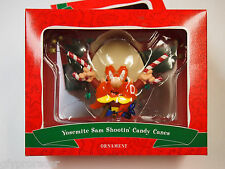 YOSEMITE SAM SHOOTING CANDY CANES Ornament Looney Tunes in Box