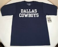 Dallas Cowboys Shirt Mens Medium NFL Navy Blue Short Sleeve Tee