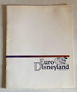 RARE PRE OPENING Euro Disney Book BOOKLET IN FRENCH Walt Disney Disneyland Paris