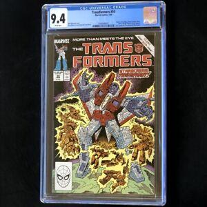 "Transformers #50 (Marvel 1989) 💥 CGC 9.4 💥 ""Death"" of Brawn Soundwave! Comic"
