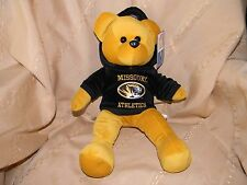 missouri university athletics teddy bear new with tags  16 inch with hoodie