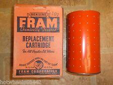 NOS Fram 1933-1941 Chevrolet Truck Oil Filter Replacement Element Cartridge