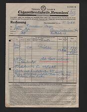 OBERCUNNERSDORF, Rechnung 1931, Türkische Tabak-& Zigaretten-Fabrik Reunion