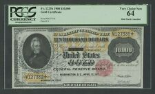FR1225-h $10,000 1900 GOLD NOTE PCGS 64 VERY CHOICE UNC WLM7996