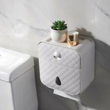 Toilet Roll Holder Waterproof Bathroom Paper Towel Box Wall Mount Tissue Storage