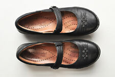 1cdf8a9114a906 Clarks Mary Janes Womens 9 N Black Leather Casual Shoes Unstructured Narrow