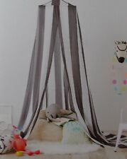 Pillowfort Gray White Stripes Canopy ~ New Over Twin Bed Play Area