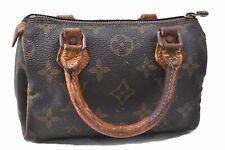 Authentic Louis Vuitton Monogram Mini Speedy Hand Bag M41534 Junk LV C6703
