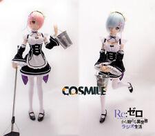 Re: Zero kara Hajimeru Isekai Seikatsu Ram Rem BJD Doll Clothing Wig Cosplay Sa
