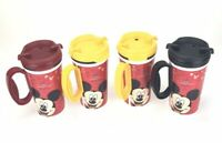 Vintage Disney Parks Whirley Warren Mickey Mouse Mugs Plastic (Set of 4)
