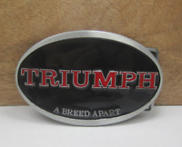 BOUCLE CEINTURE TRIUMPH MOTORCYCLES  UNION JACK FLAG  BUCKLE METAL