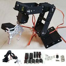1 Set 6 DOF Aluminium Mechanical Robotic Arm Clamp Claw Mount Robot Kit Black