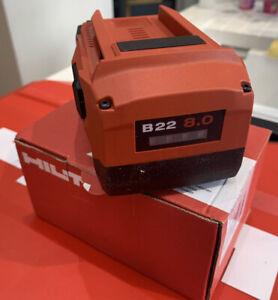 HILTI B22 8.0 New Boxed Battery 2021 Bid3#