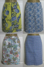 NEW Next Linen Blend Summer Holiday Sun Skirt 4 Prints Pockets Yellow Blue 8-18