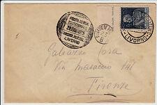 POSTA AEREA ECCEZIONALE LIVORNO-1 L GIUBILEO-Busta x Firenze viaggiata 28.6.1925