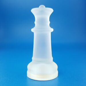 Fifth Avenue Chess Queen Frosted Crystal Glass Replacement Game Piece 326224