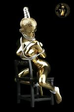 Bronze Sculpture Figur Bondage Girl on chair Art Statue Akt Erotic Woman Sexy